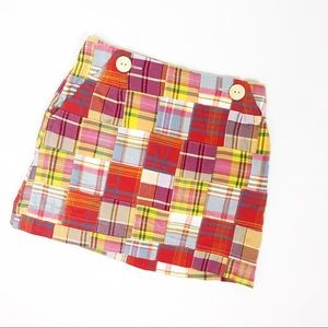 CrewCuts Plaid Madras Skirt